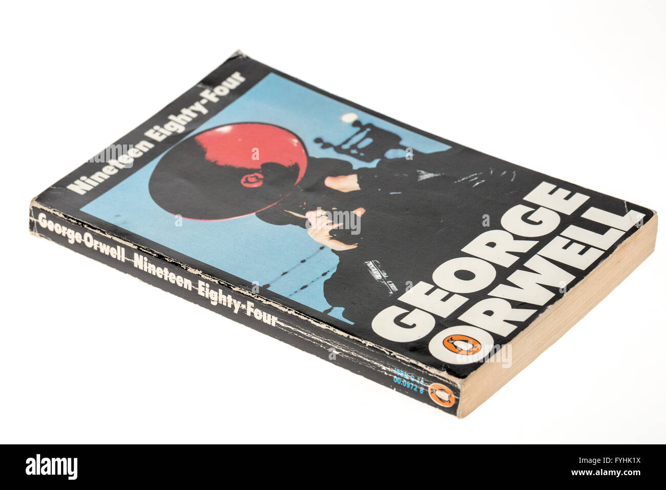George Orwell Nineteen Eighty Four paperback book published by Penguin - Stock Image
