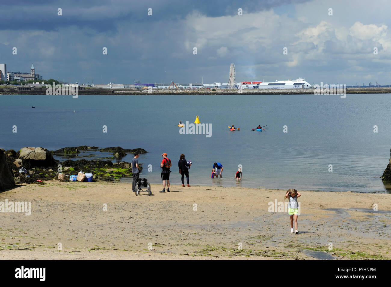 All beaches are safe to swim in the Dn Laoghaire-Rathdown