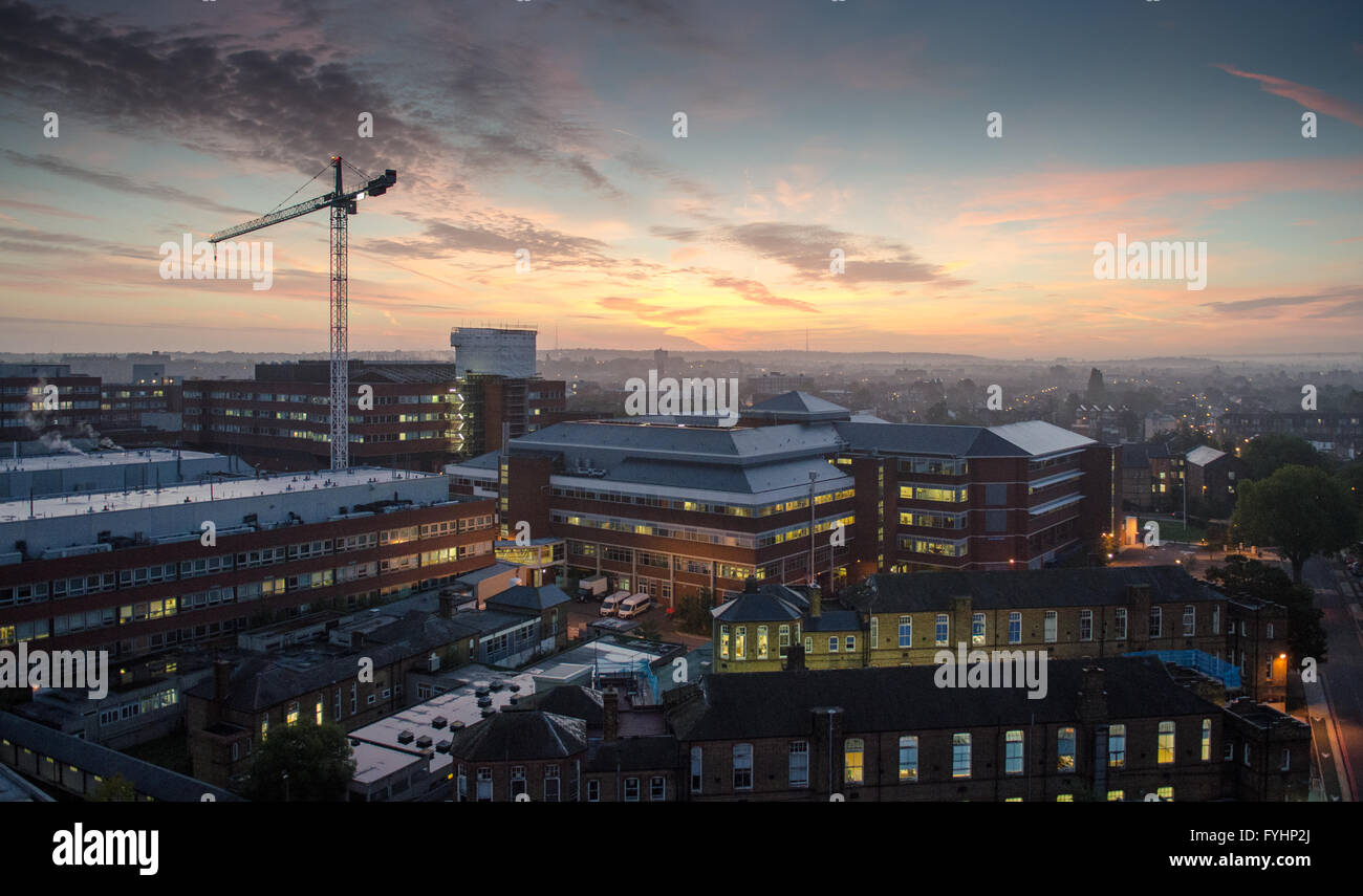 St George's Hospital, a major accident and emergency hospital and trauma centre in South London. Stock Photo