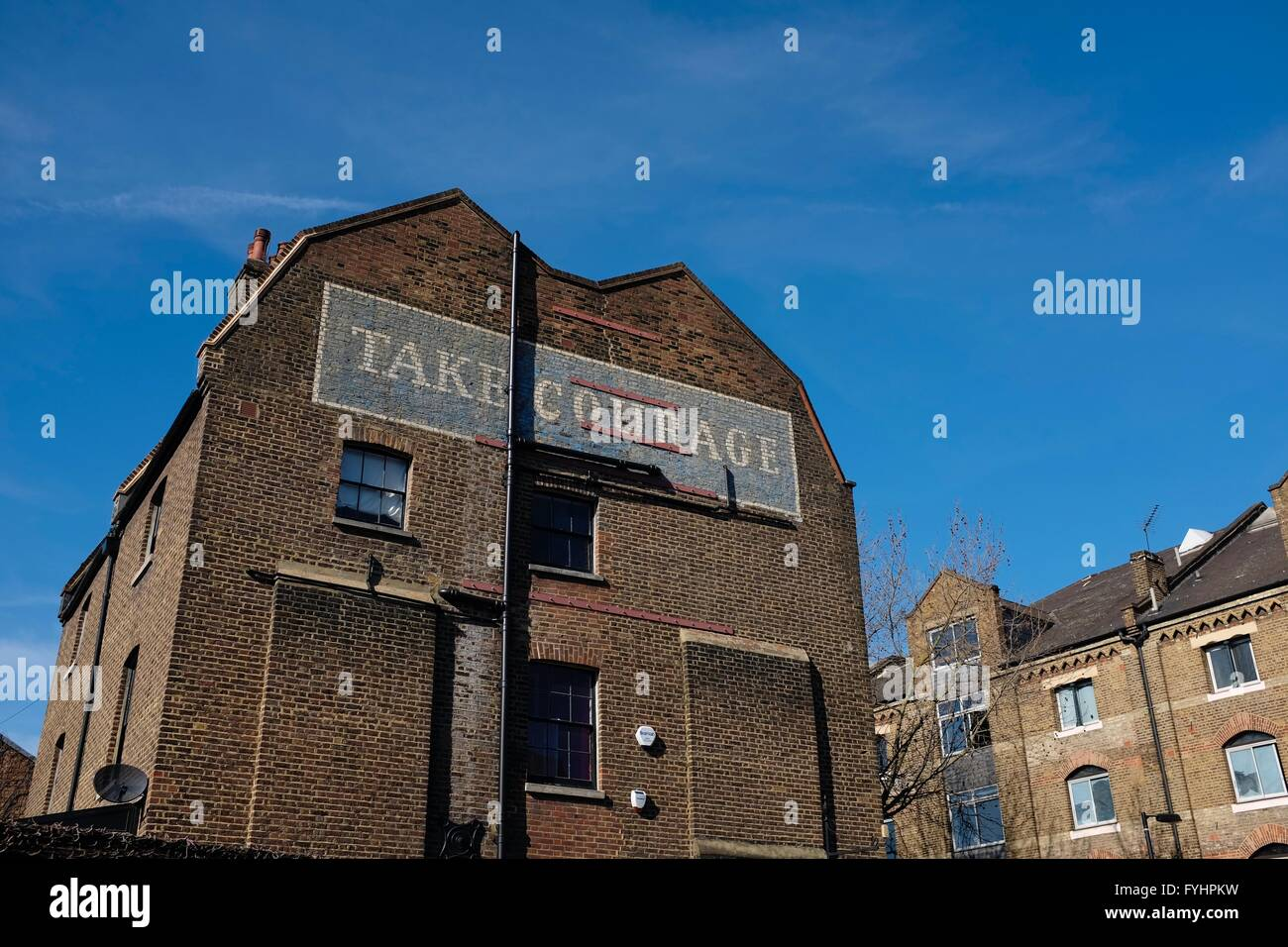 Take Courage Ghost Sign, Southwark, London - Stock Image