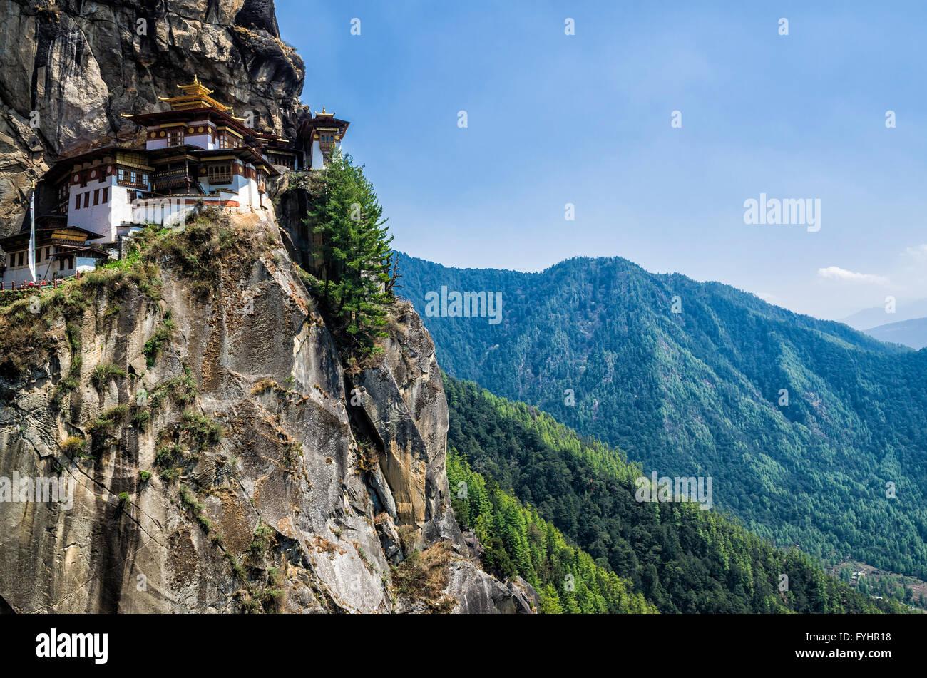 Taktshang monastery, Bhutan - Stock Image