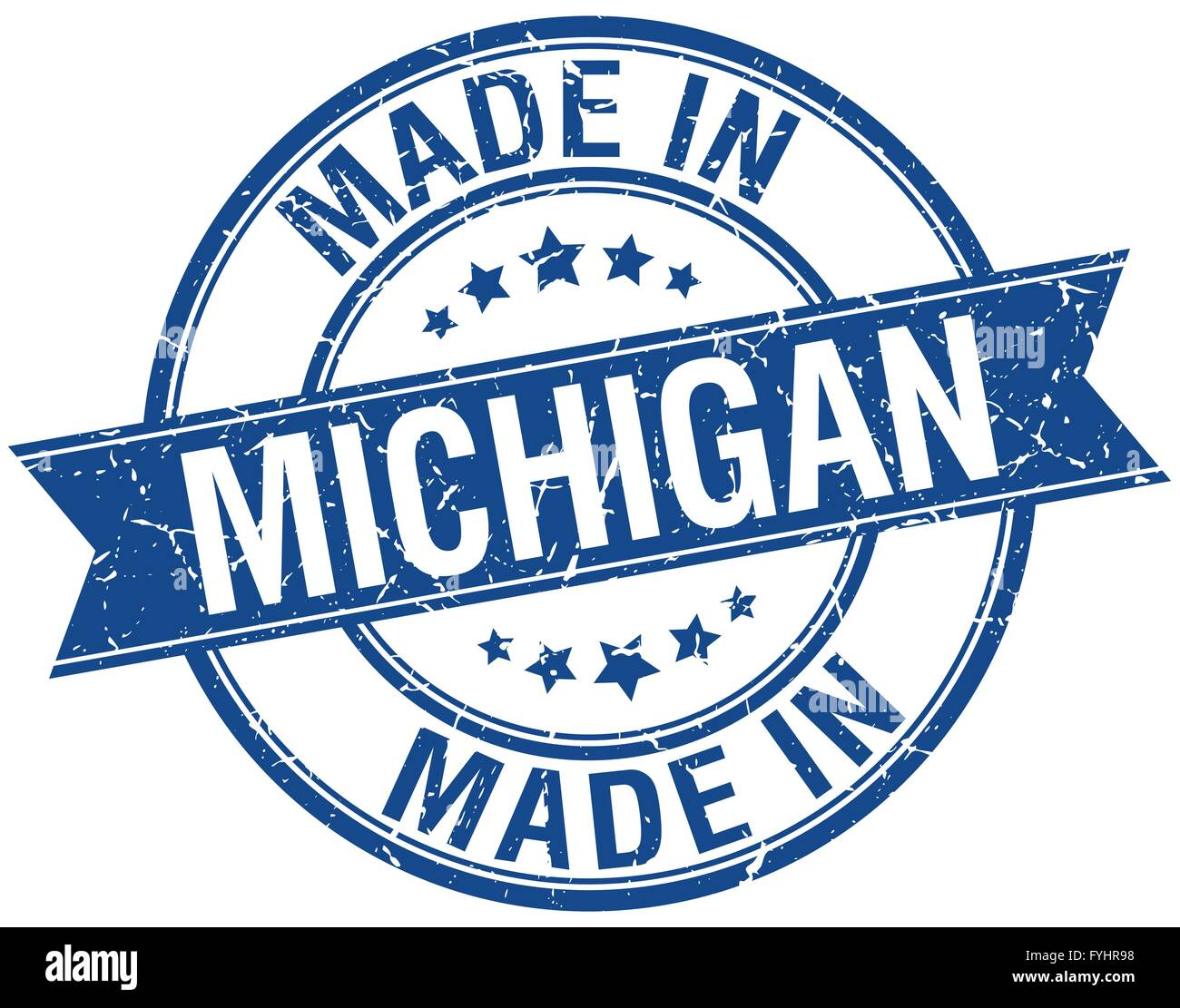 Made In Michigan >> Made In Michigan Blue Round Vintage Stamp Stock Vector Art