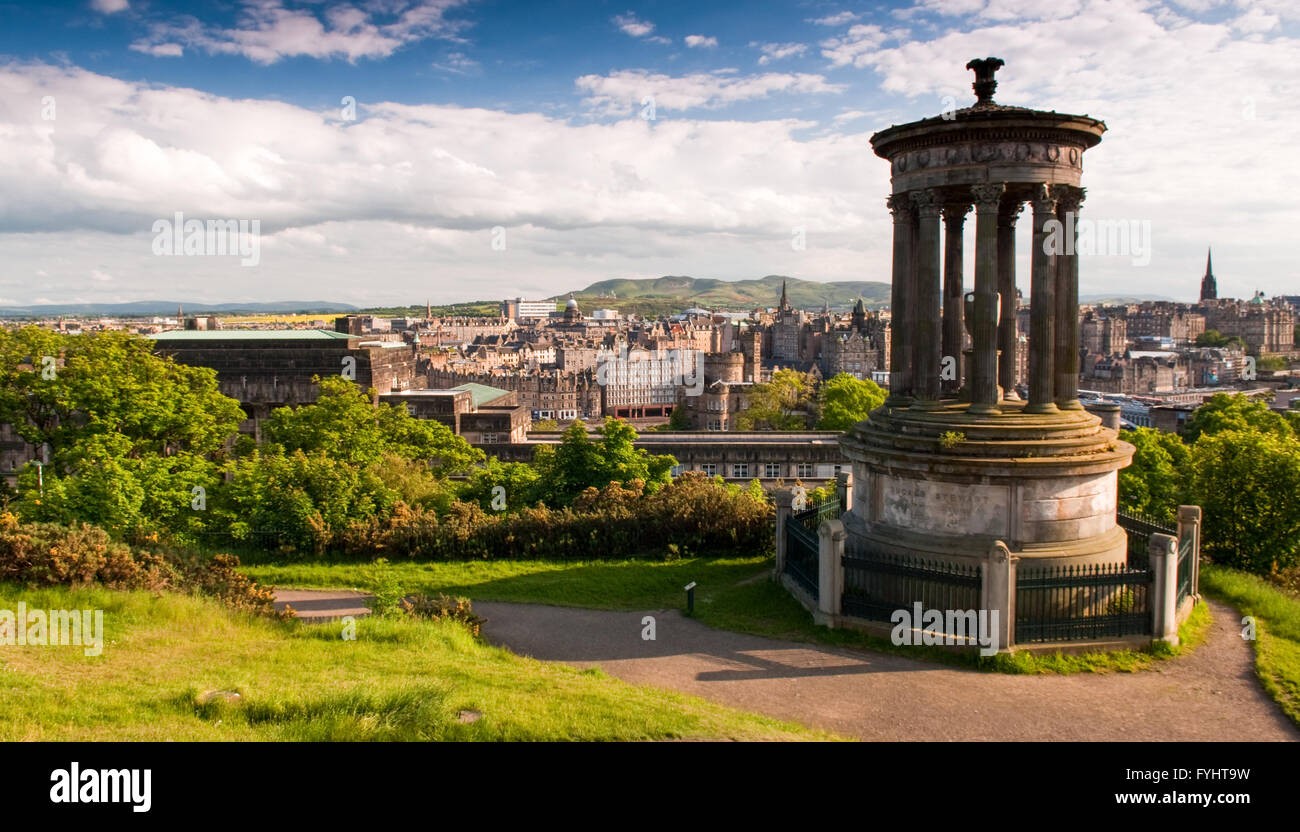 The cliche cityscape of Edinburgh from Calton Hill. - Stock Image