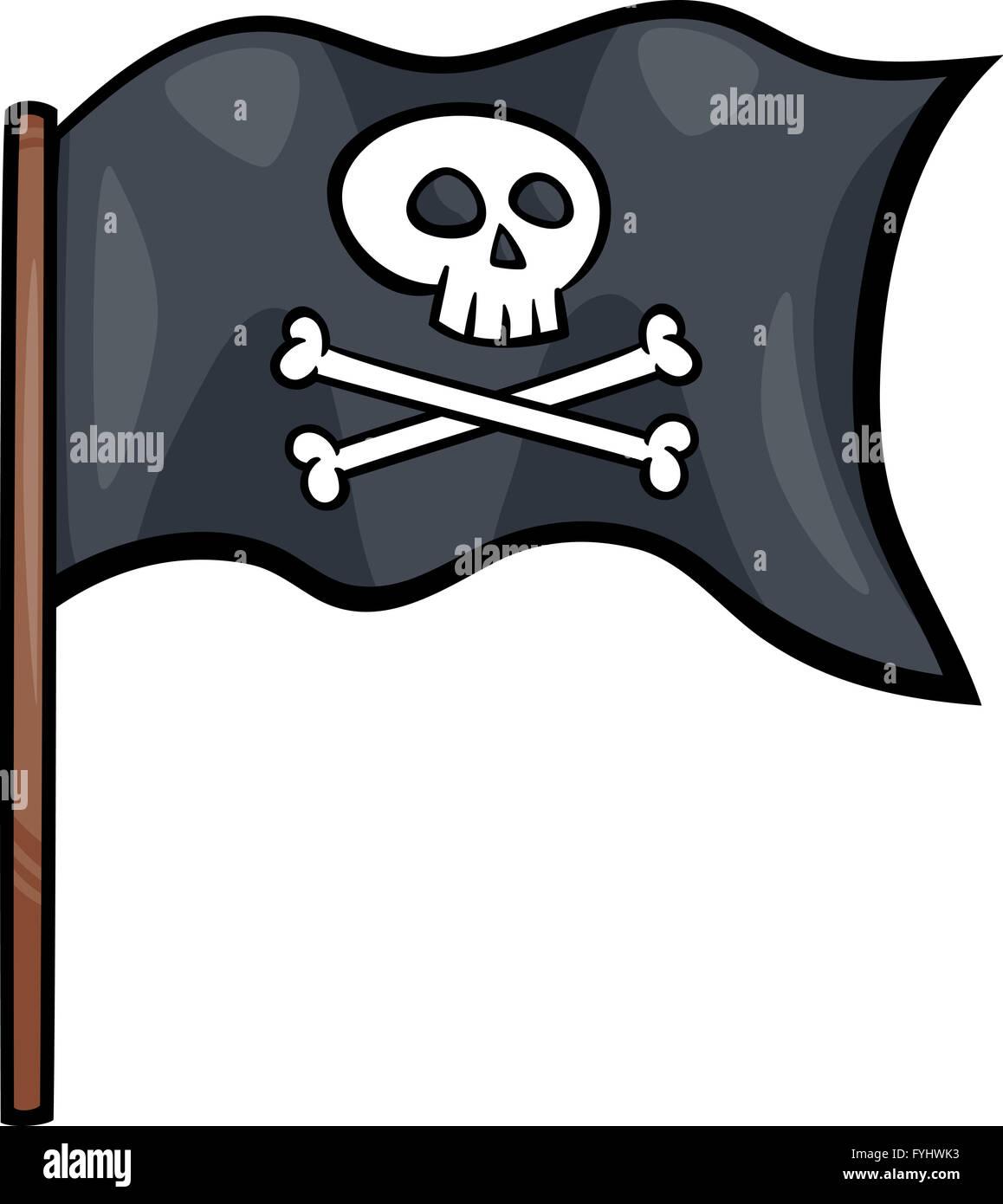 pirate flag cartoon clip art stock photo 103040871 alamy rh alamy com pirate flag clip art black and white Pirate Hat Clip Art