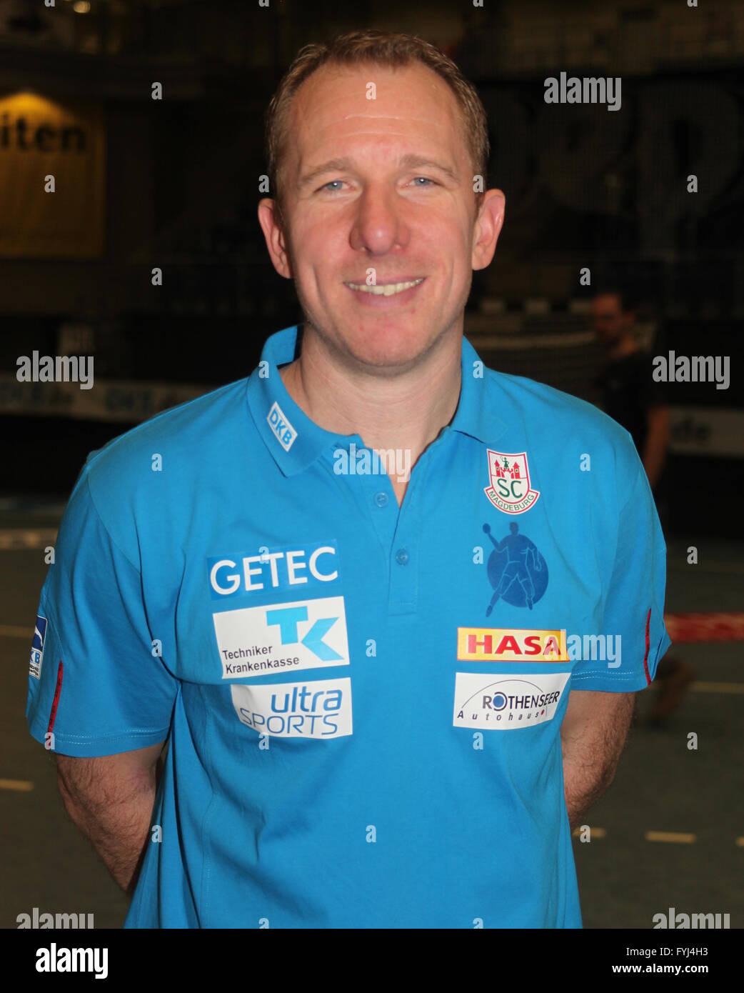 Frank Carstens (SC Magdeburg Saison 2013/14) - Stock Image