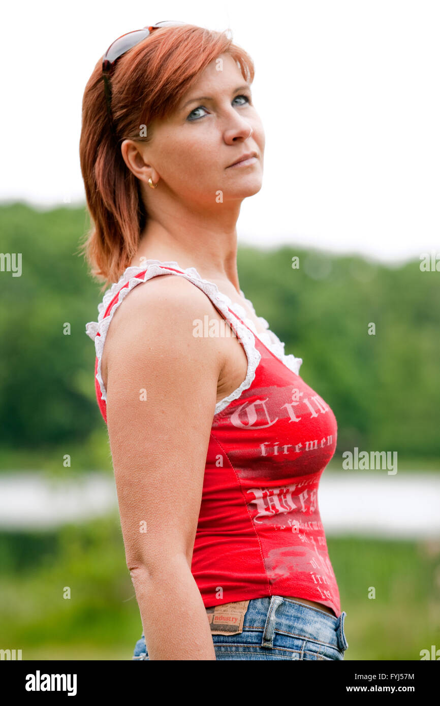 Moms portrait - Stock Image