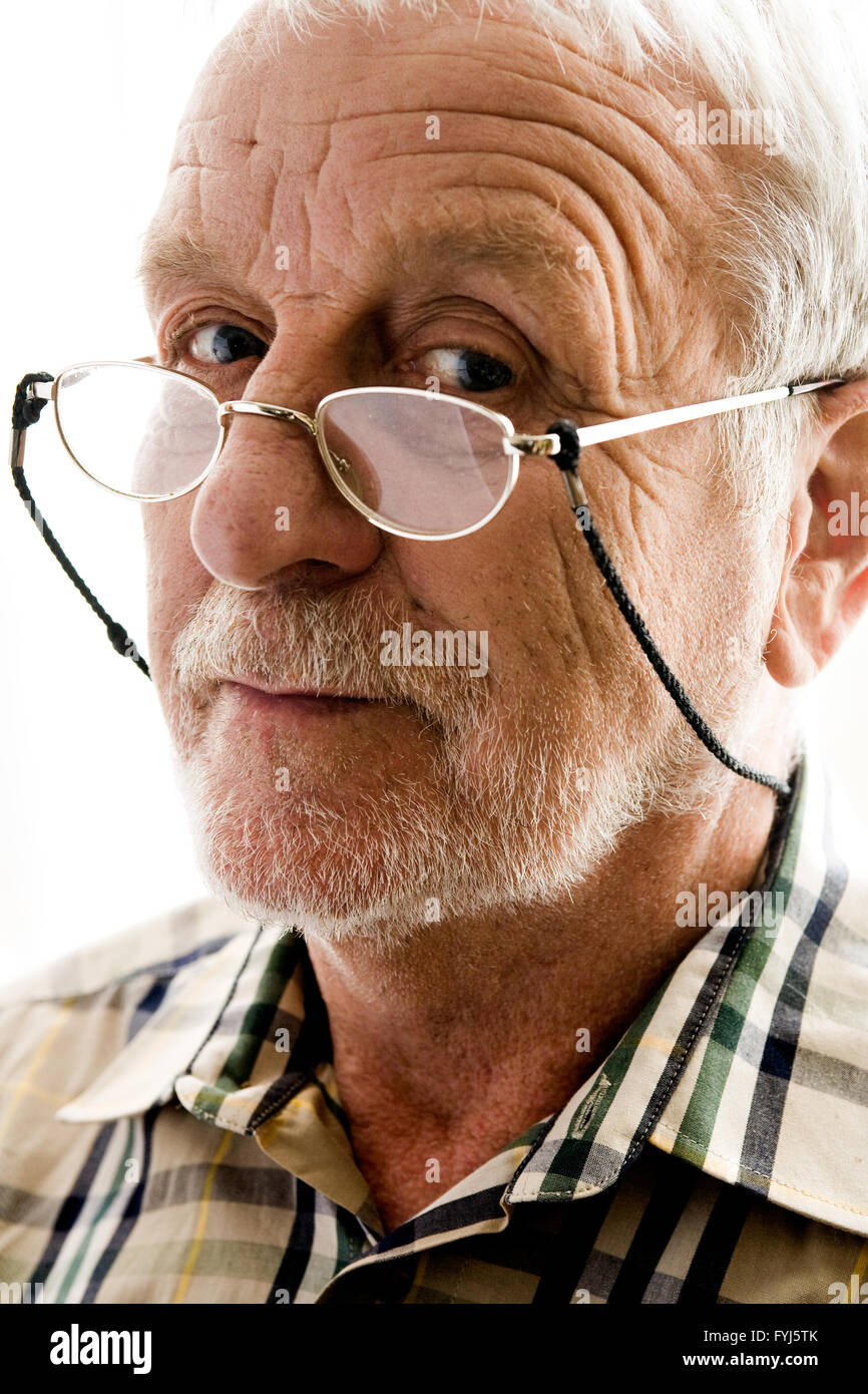 Very interested older man - Stock Image