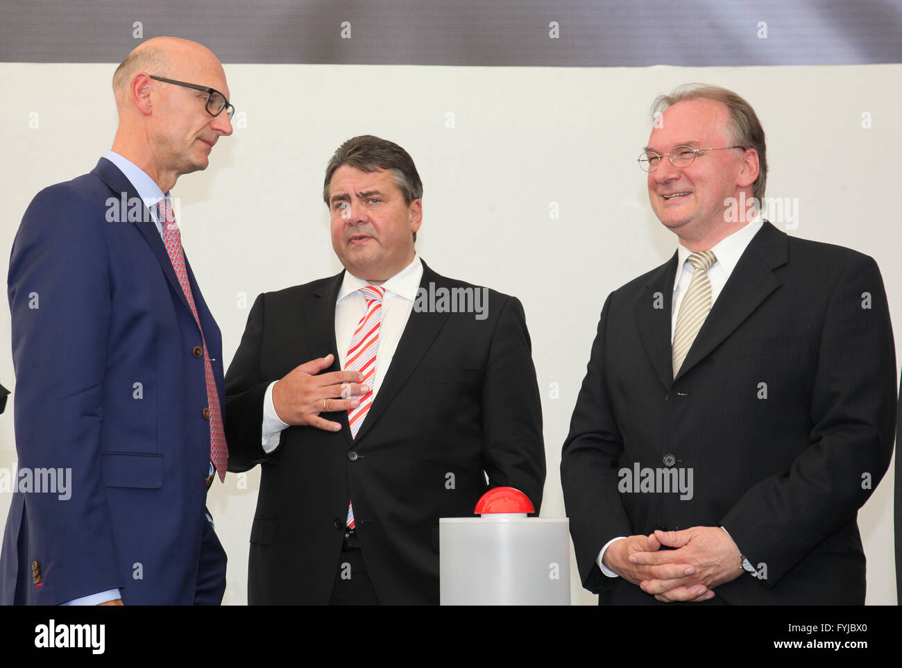 Opening new data center T-Systems in Biere - Stock Image