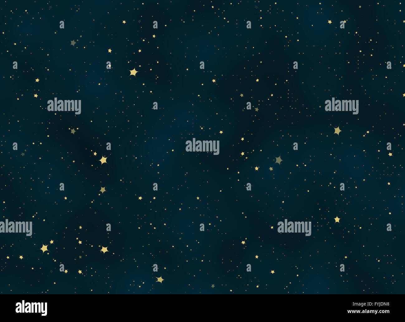 night sky covered with many bright stars - Stock Image