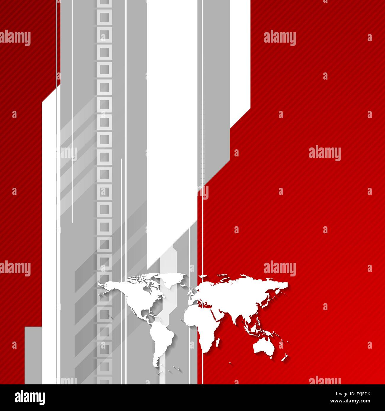 Red and grey technology background with world map stock photo red and grey technology background with world map gumiabroncs Choice Image