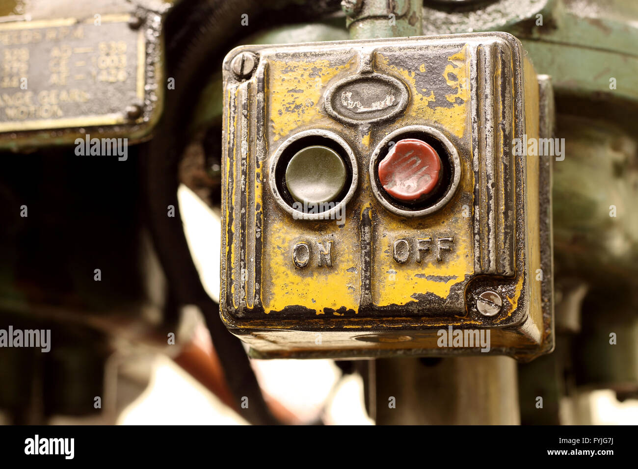 Industrial switch - Stock Image