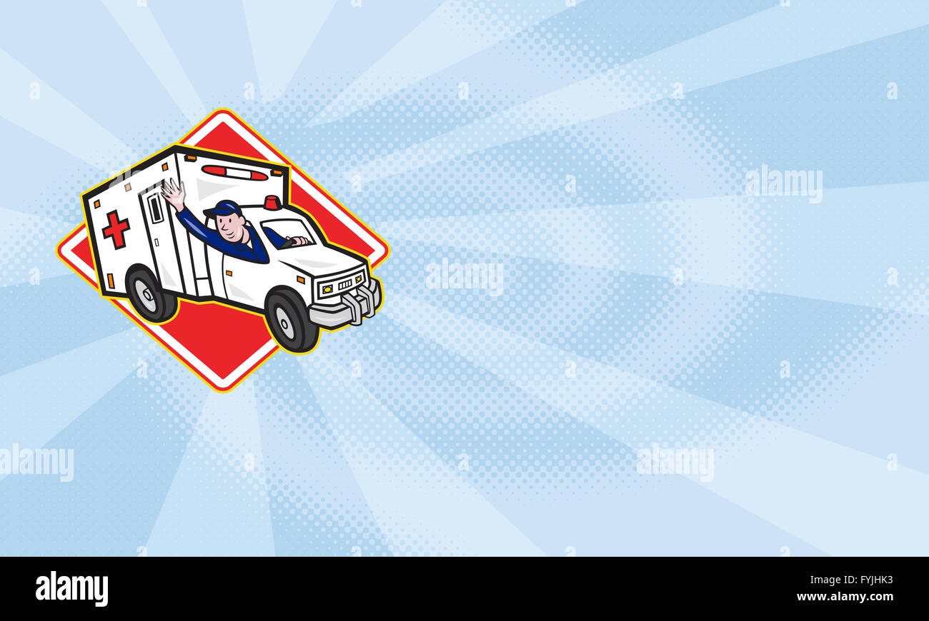 Paramedic EMT Ambulance Driver - Stock Image