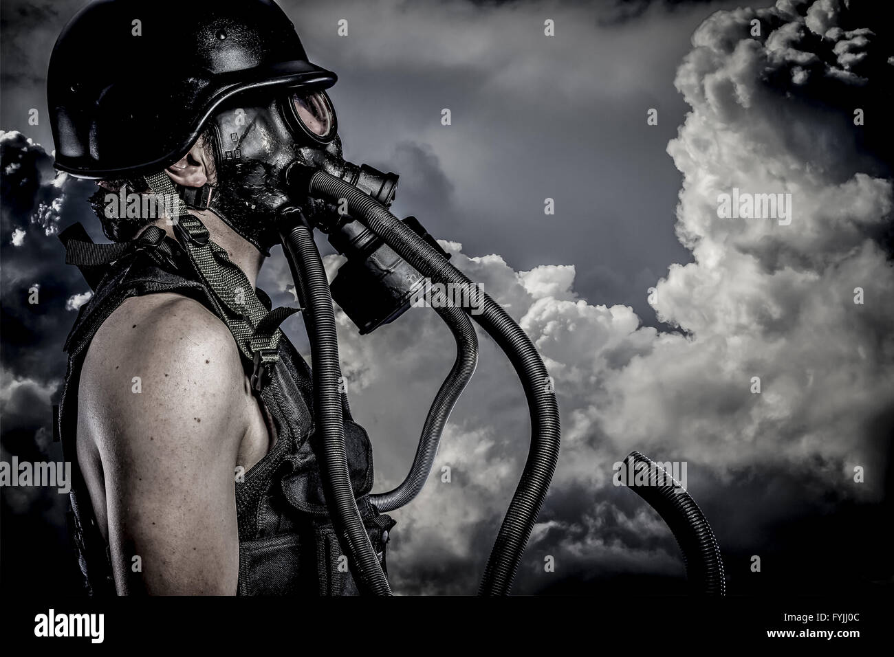Nuclear disaster - Stock Image
