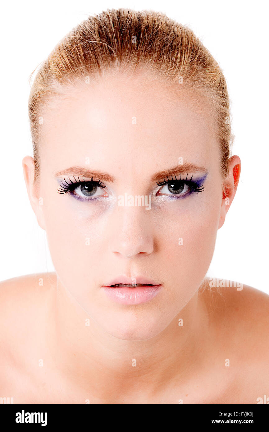 Concentrate and look deeply into my eyes - Stock Image