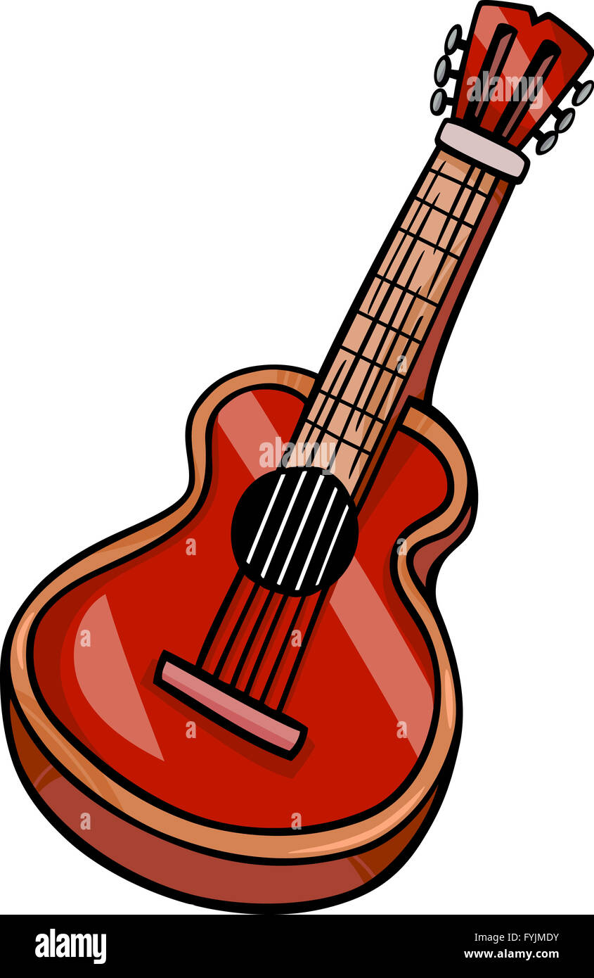 Guitare Clipart acoustic guitar cartoon clip art stock photos & acoustic guitar