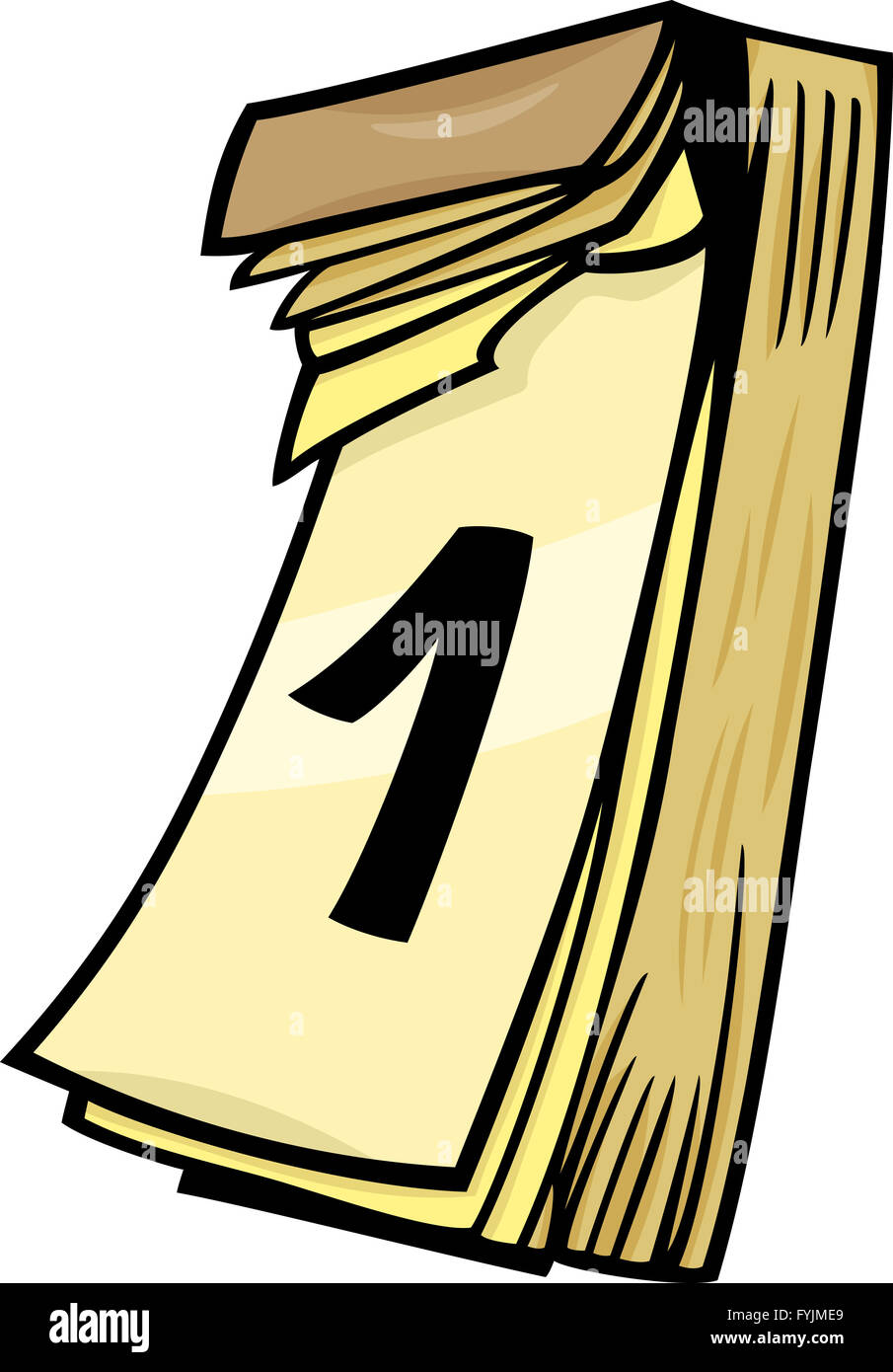1st on wall calendar cartoon clip art Stock Photo: 103058769 - Alamy