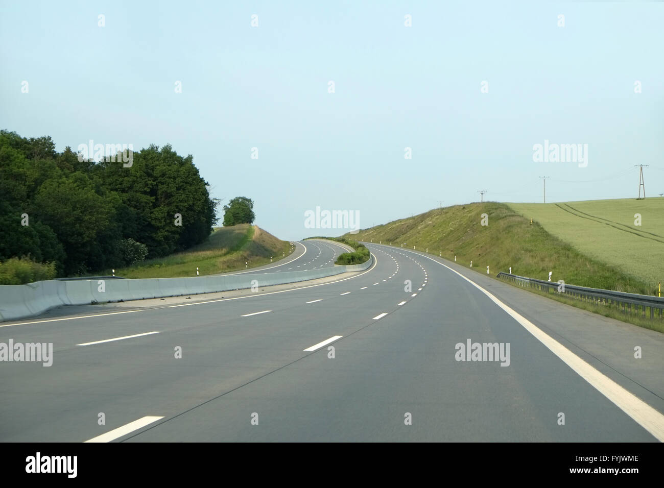 motorway autobahn deutschland stock photo 103062862 alamy. Black Bedroom Furniture Sets. Home Design Ideas