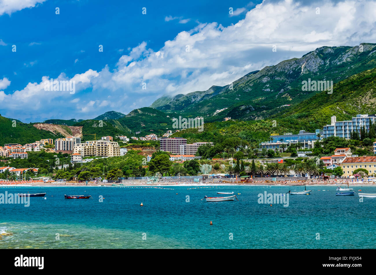 Landscape panorama view in Montenegro - Stock Image