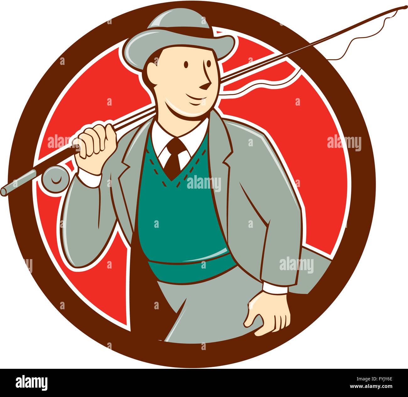 Cartoon Man Bowler Hat Stock Photos Cartoon Man Bowler Hat Stock