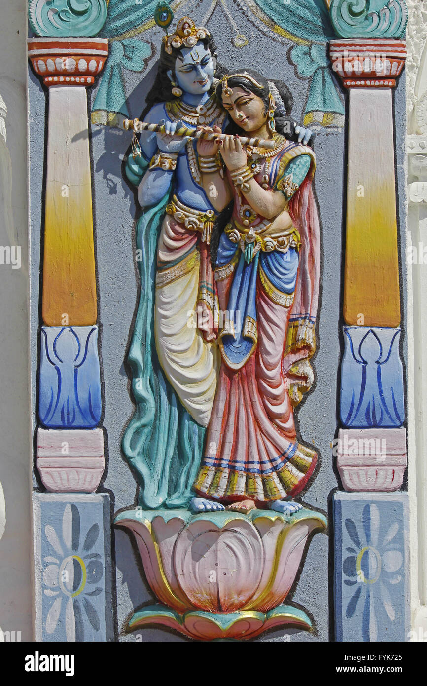 Sculpture of Radha Krishna - Stock Image