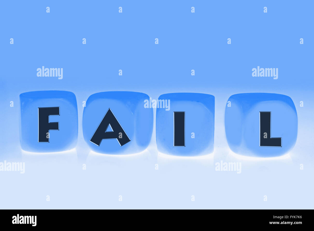 word Fail on cubes - Stock Image