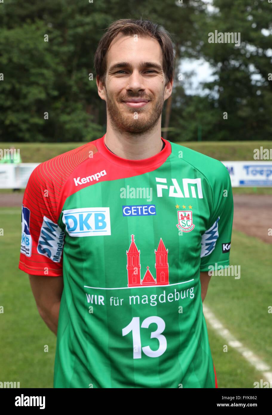 Jure Natek (SC Magdeburg Saison 2014/15) - Stock Image