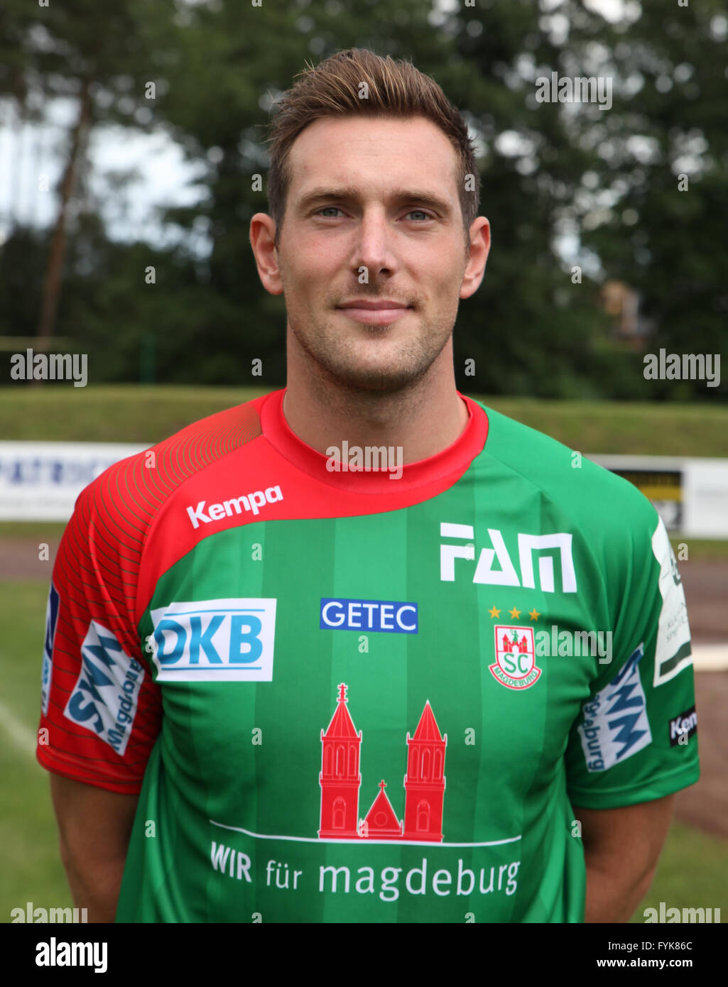 Jacob Bagersted (SC Magdeburg Saison 2014/15) - Stock Image