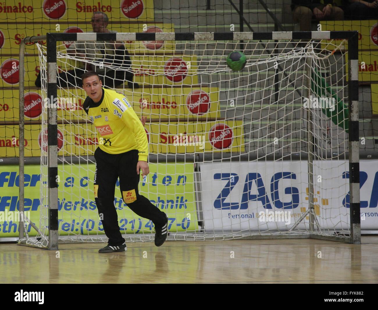 Goalkeeper Dario Quenstedt (SC Magdeburg) - Stock Image