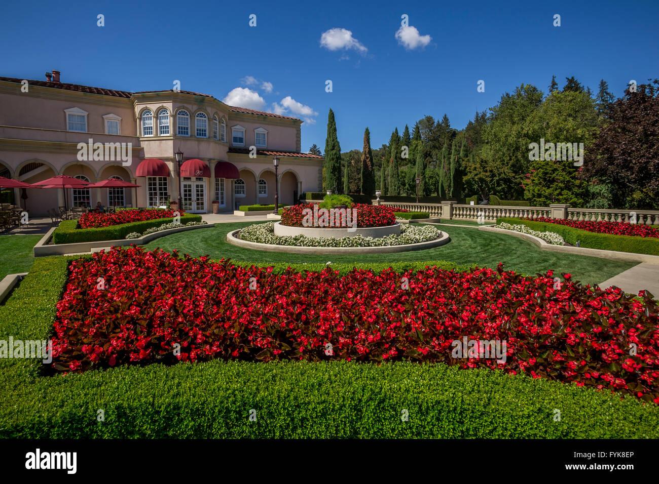 Villa Fiore Tasting Room, Il Terrazzo outdoor tasting terrace Stock ...
