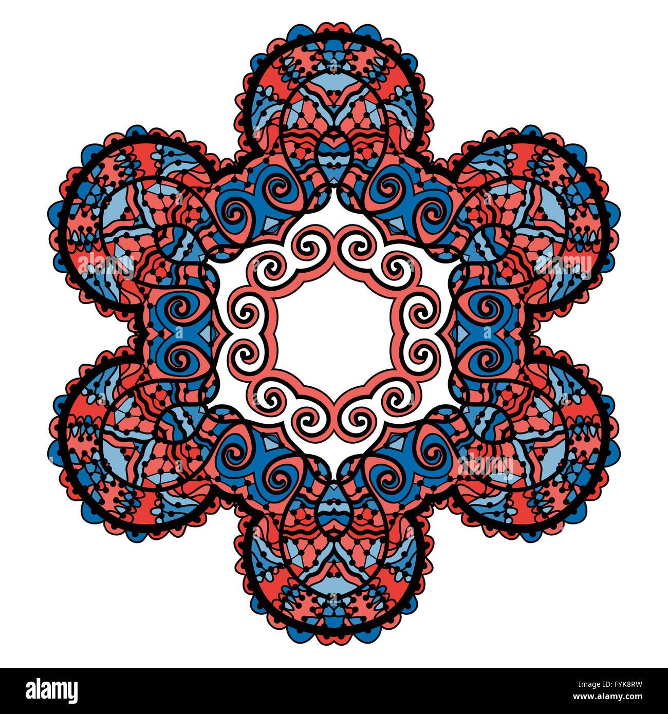 Stylized tribal mandala circle decorative spiritual indian symbol stylized tribal mandala circle decorative spiritual indian symbol of lotus flower round ornament pattern vector illustration izmirmasajfo