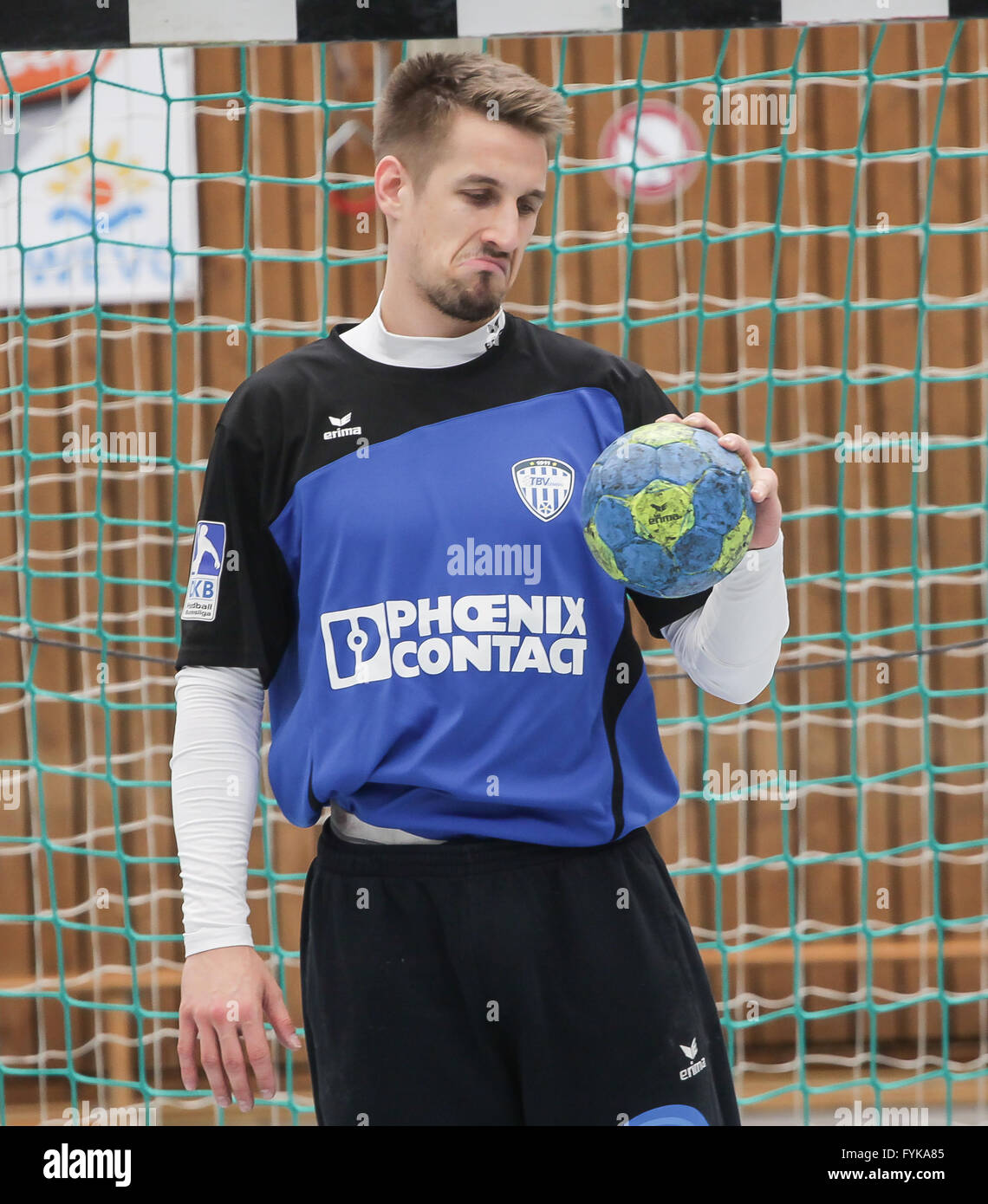 Goalkeeper Thomas Bauer (TBV Lemgo) Stock Photo