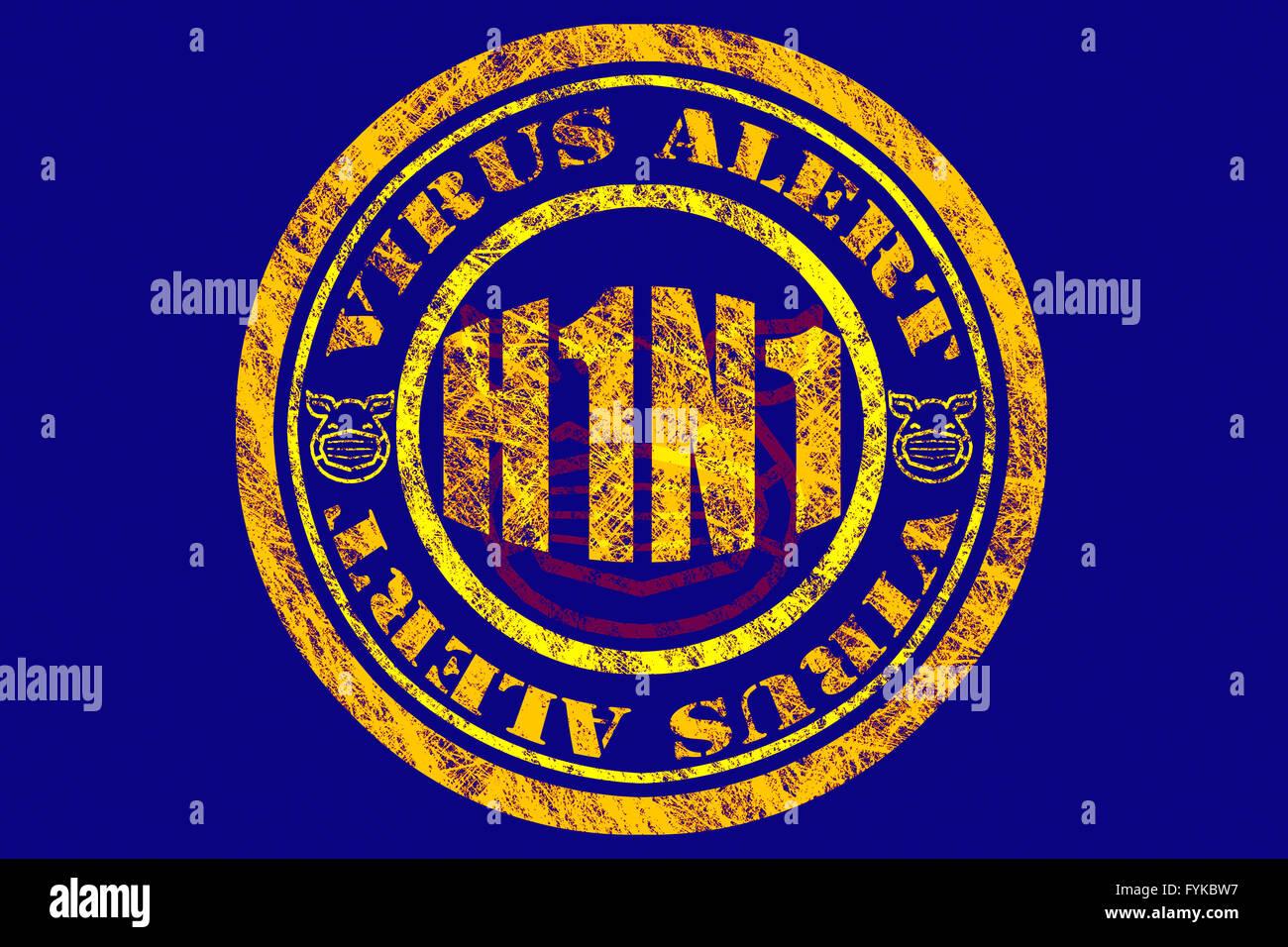 H1N1 Virus Alert Concept - Stock Image
