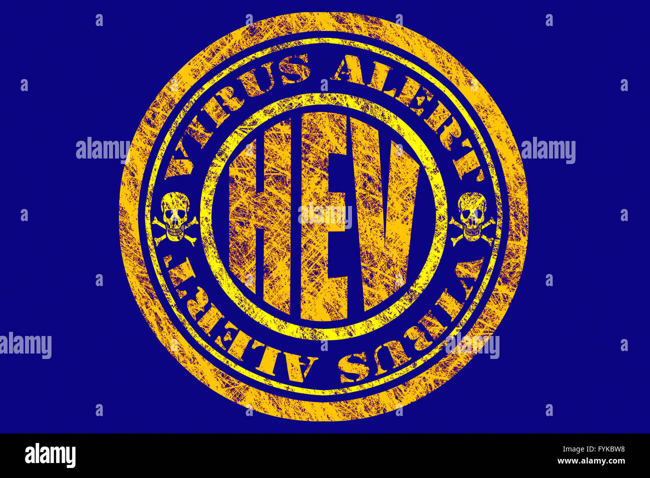 HEV Virus Alert Concept - Stock Image
