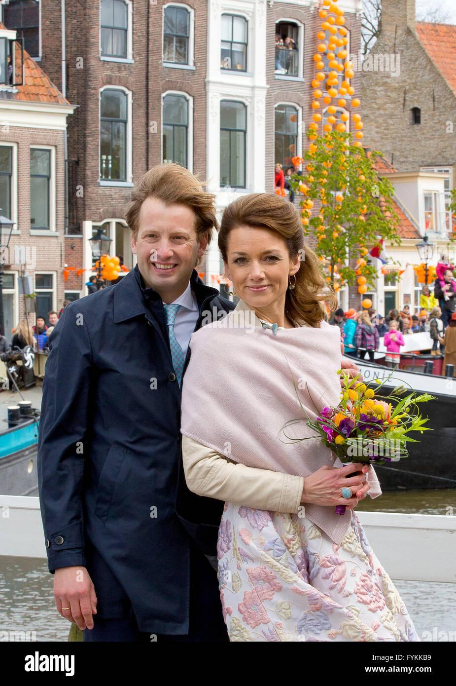 Zwolle, 27-04-2016 Prince Floris and Princess Aimée HM King