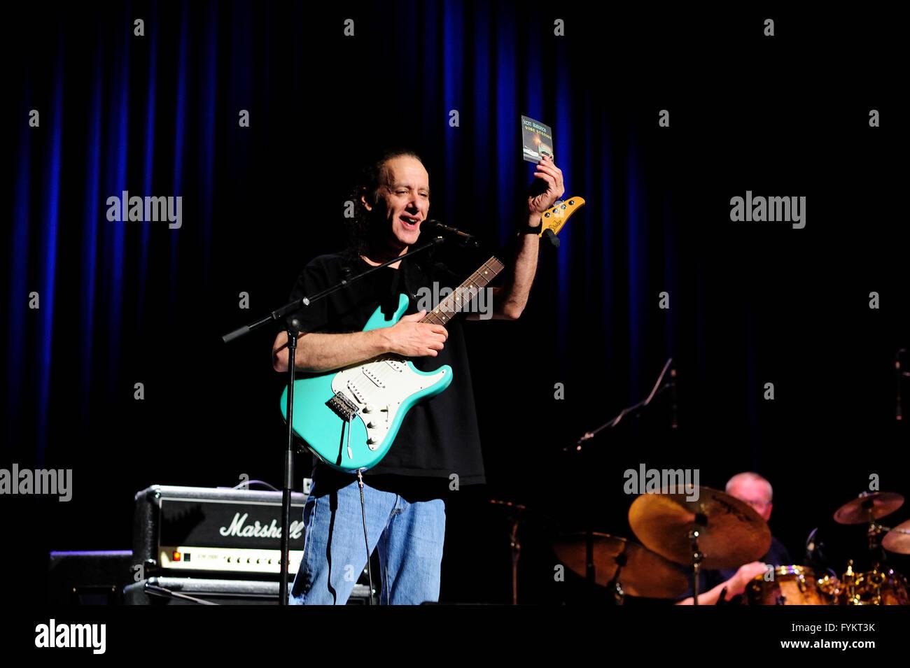 Swidnica, Poland, 27 april 2016, Scott Henderson, guitar player, new album Vibe Station, europe spring tour, bass - Stock Image