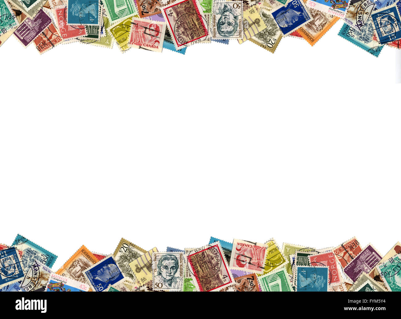 Postage Stamps Border Stock Photo 103091272