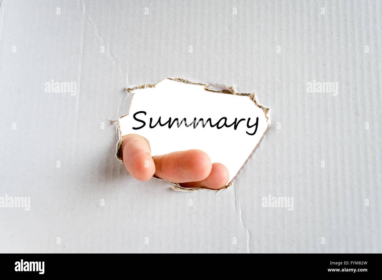 Summary concept - Stock Image