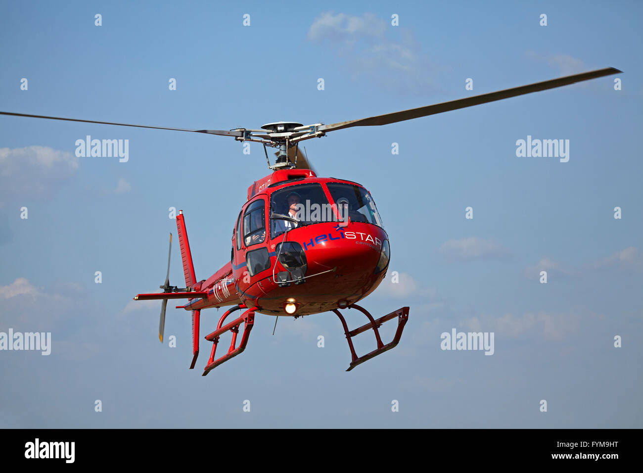 Helistar Eurocopter AS350B2 helicopter doing Angkor Wat flights, Siem Reap, Cambodia Stock Photo