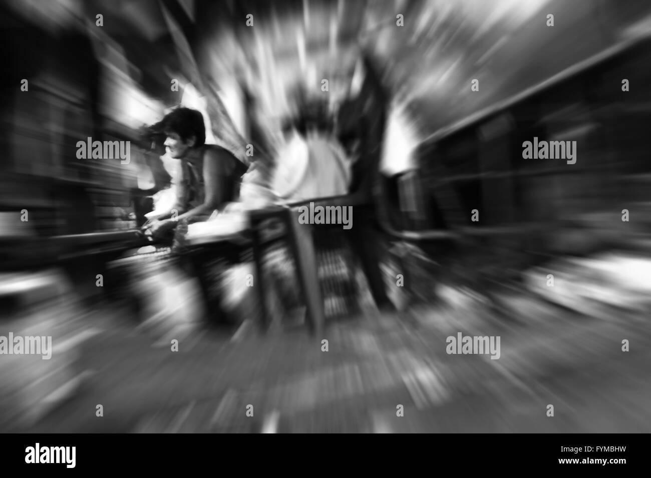Slum Dog, Bangkok, Thailand. - Stock Image