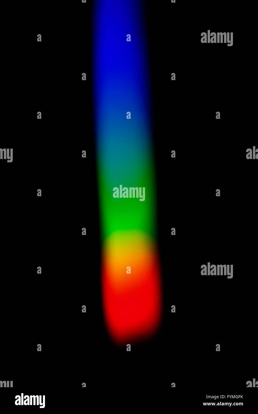 Colorful spectrum of solar light - Stock Image
