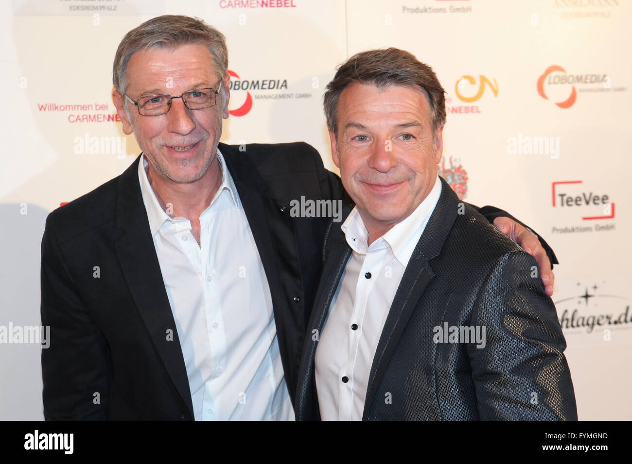Patrick Lindner and Peter Schaefer Stock Photo