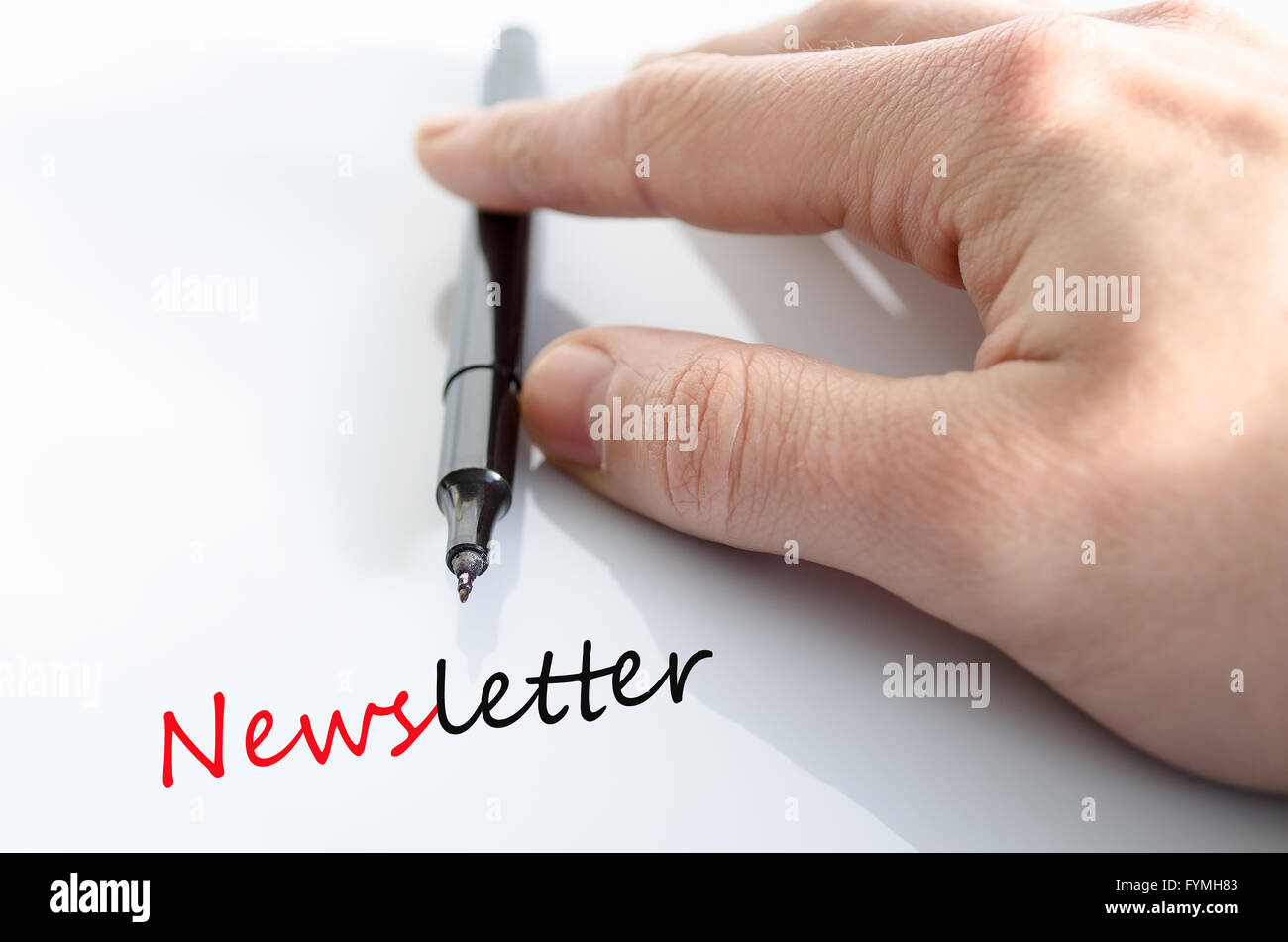 Newsletter concept Stock Photo