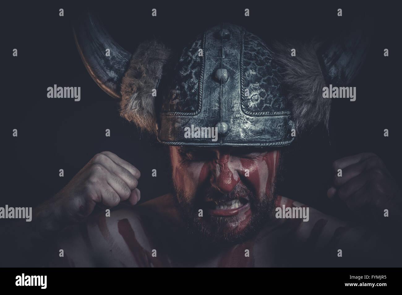 War Paint Stock Photos & War Paint Stock Images - Page 3 ... Horned Viking Helmet Goblin Rocket Helmet