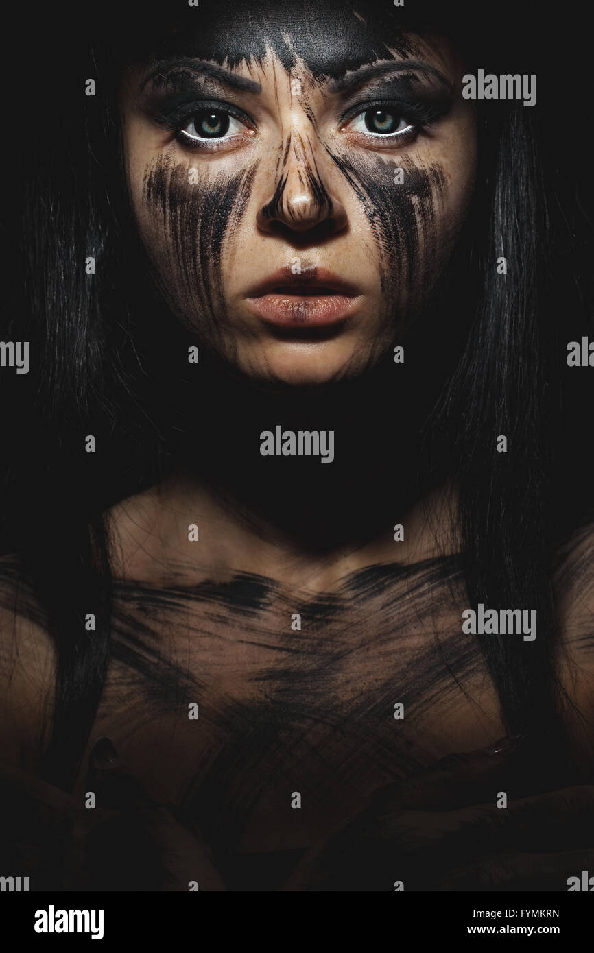 Human with black soul - Stock Image