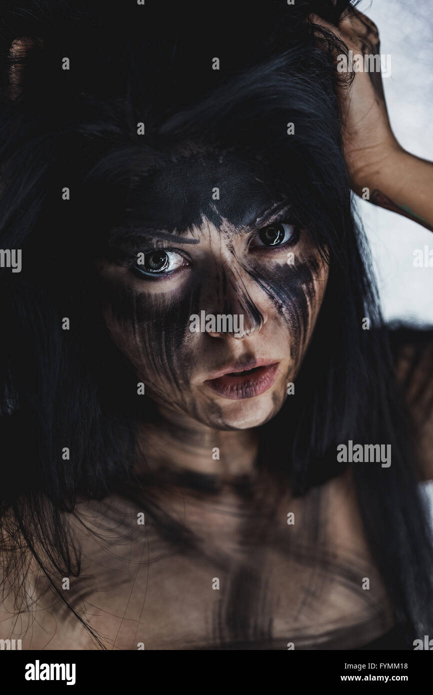 Ugly dirty face - Stock Image