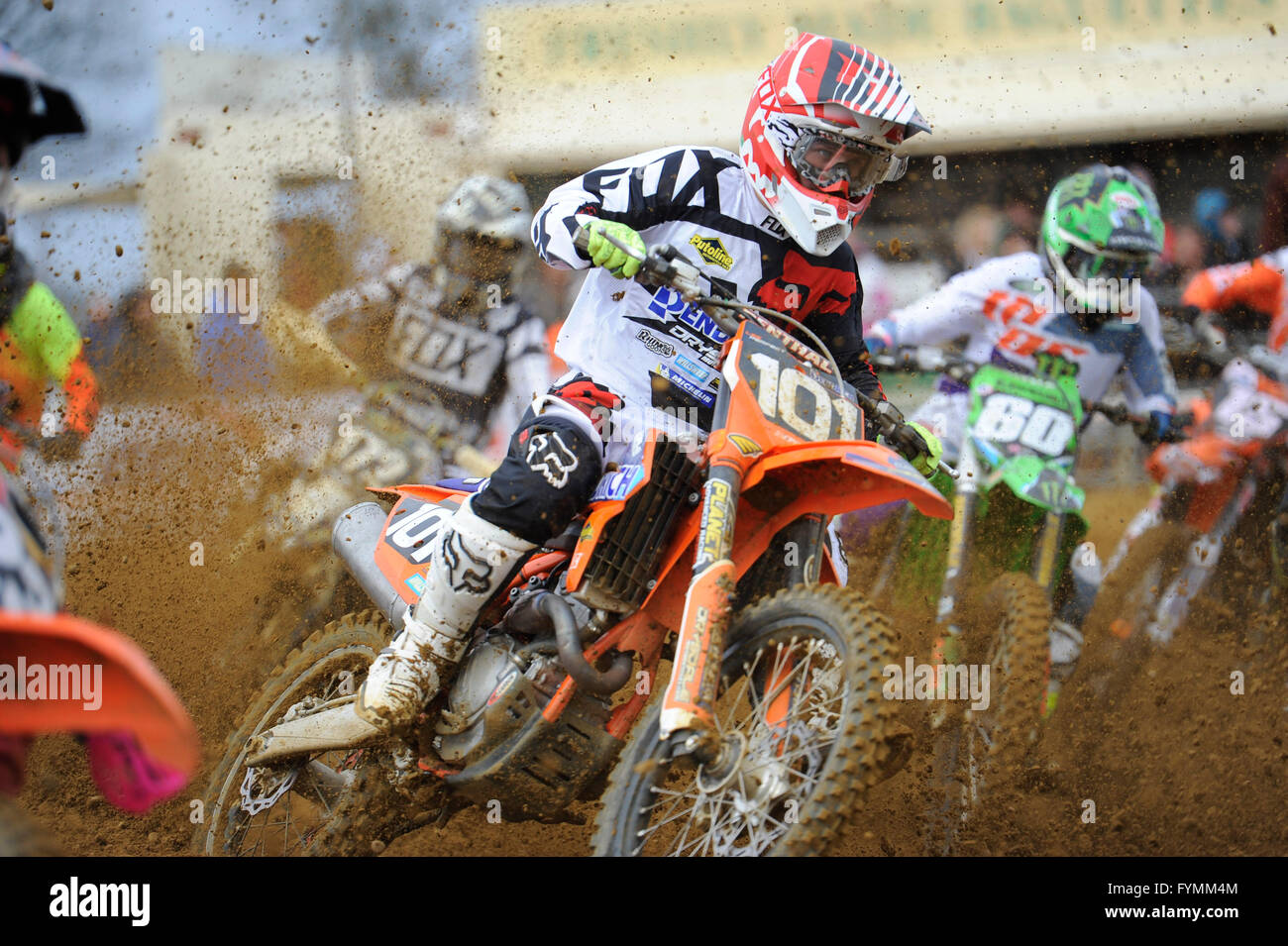 24.04.16 Maxxis British MX Championships. Round 2. Canada Heights, Kent.  James Rutter(101) riding the Spectrum - Stock Image