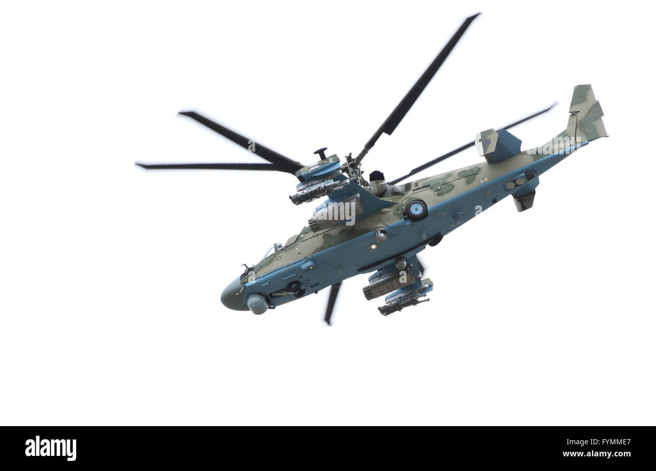 Russian helicopter Ka-52 (alligator). - Stock Image