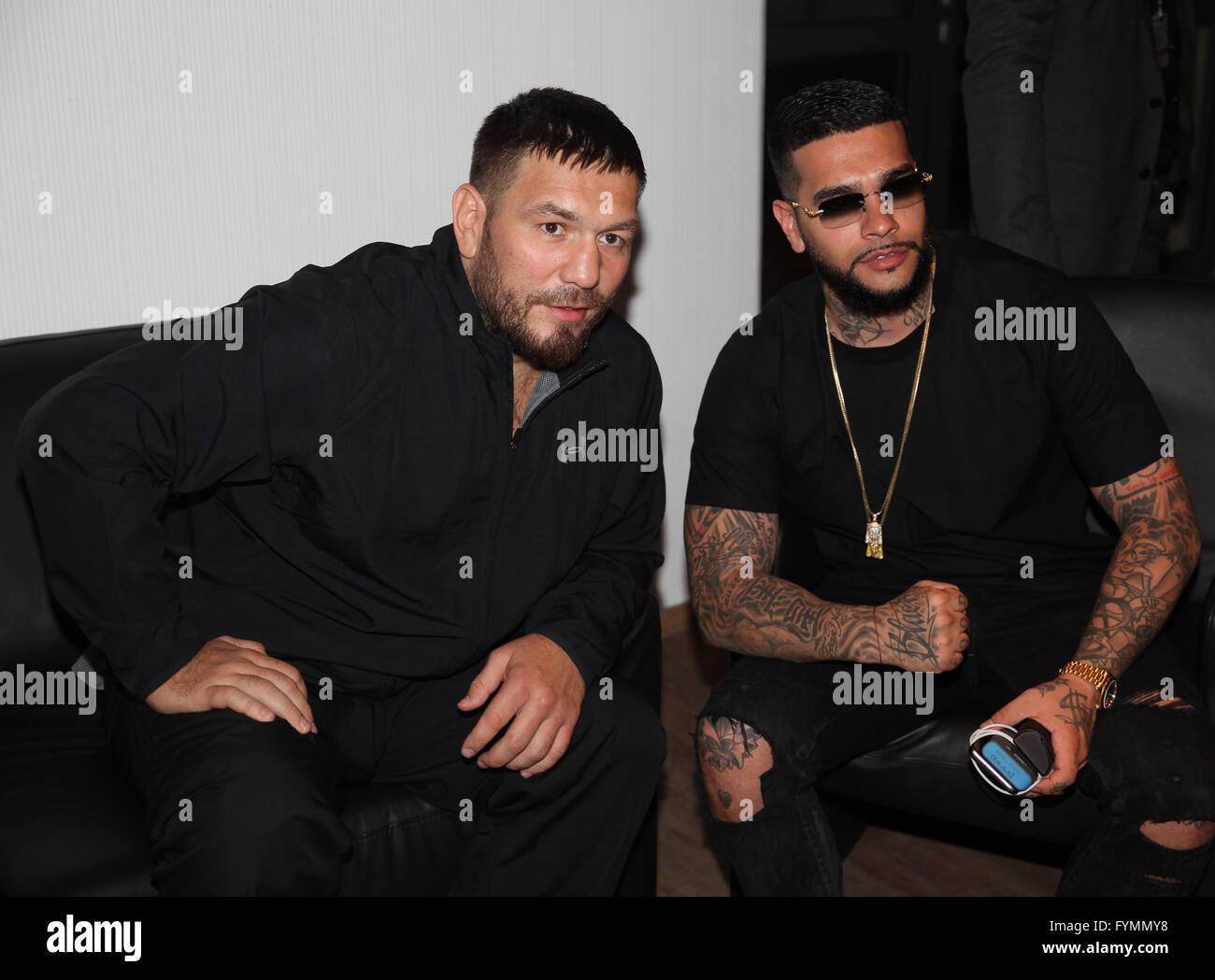 Ruslan Chagaev and Timati - Stock Image