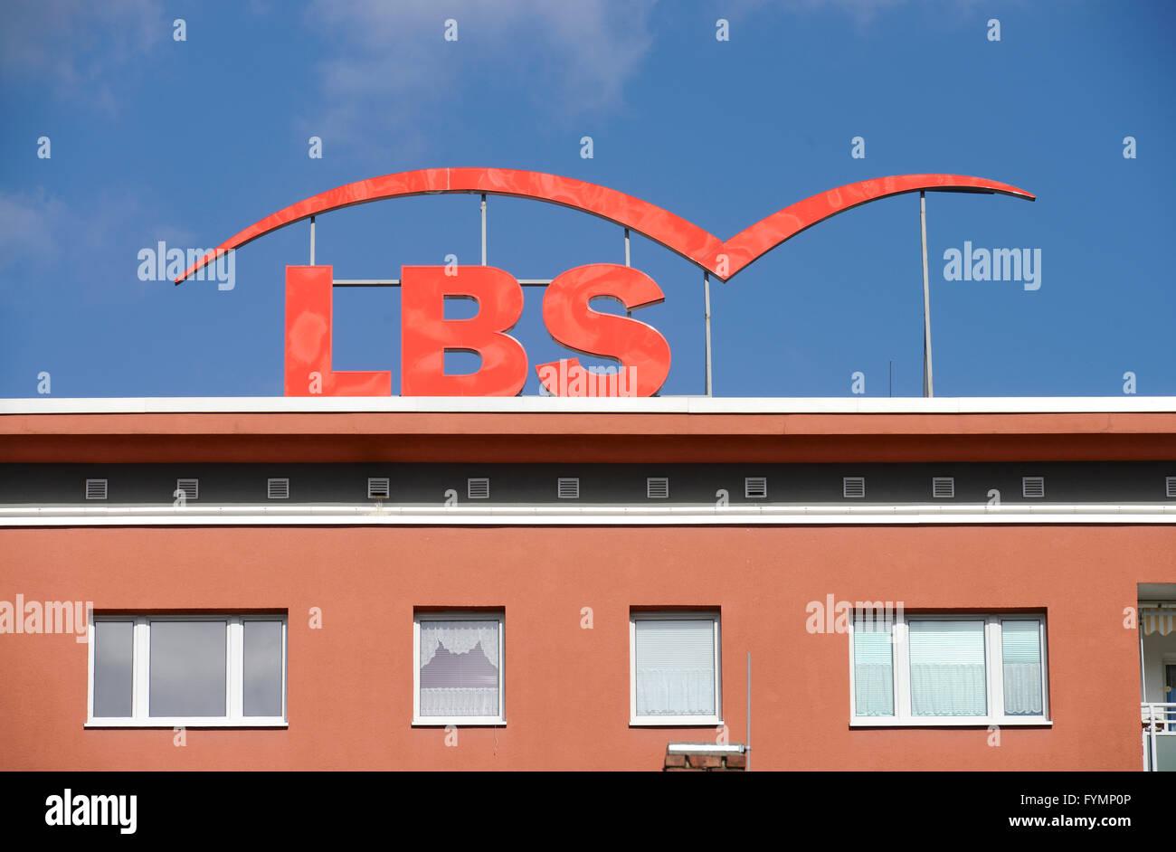 Werbung, LBS, Chemnitz, Sachsen, Deutschland - Stock Image