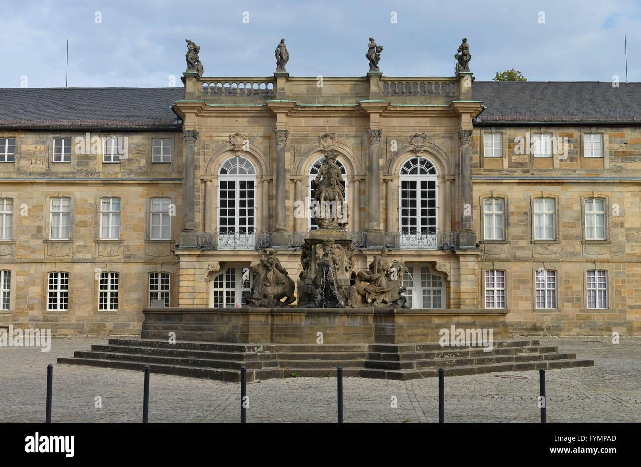 Neues Schloss, Ludwigstrasse, Bayreuth, Bayern, Deutschland - Stock Image